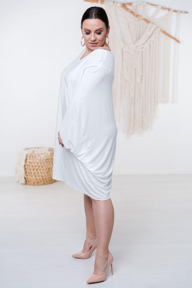 Biała Sukienka HERMI