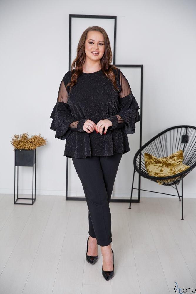 Czarna Bluzka CATANIA Plus Size