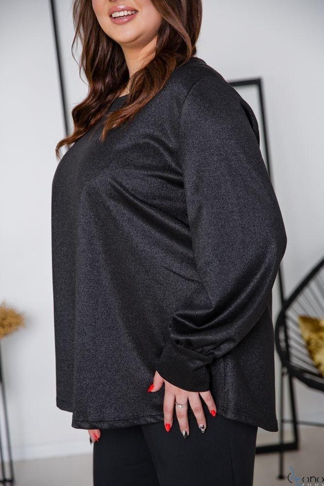 Czarna Bluzka DIMENA Plus Size