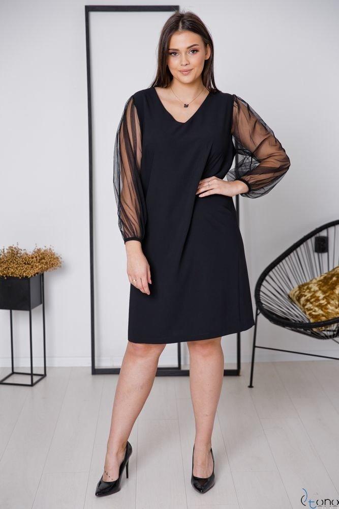 Czarna Sukienka BLOUR Plus Size