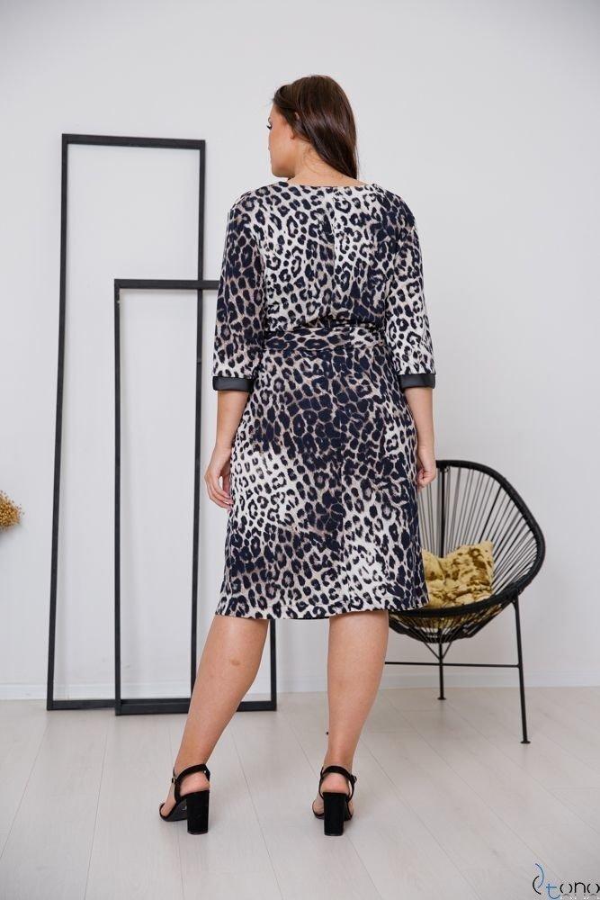 Czarna Sukienka FARIS Plus Size