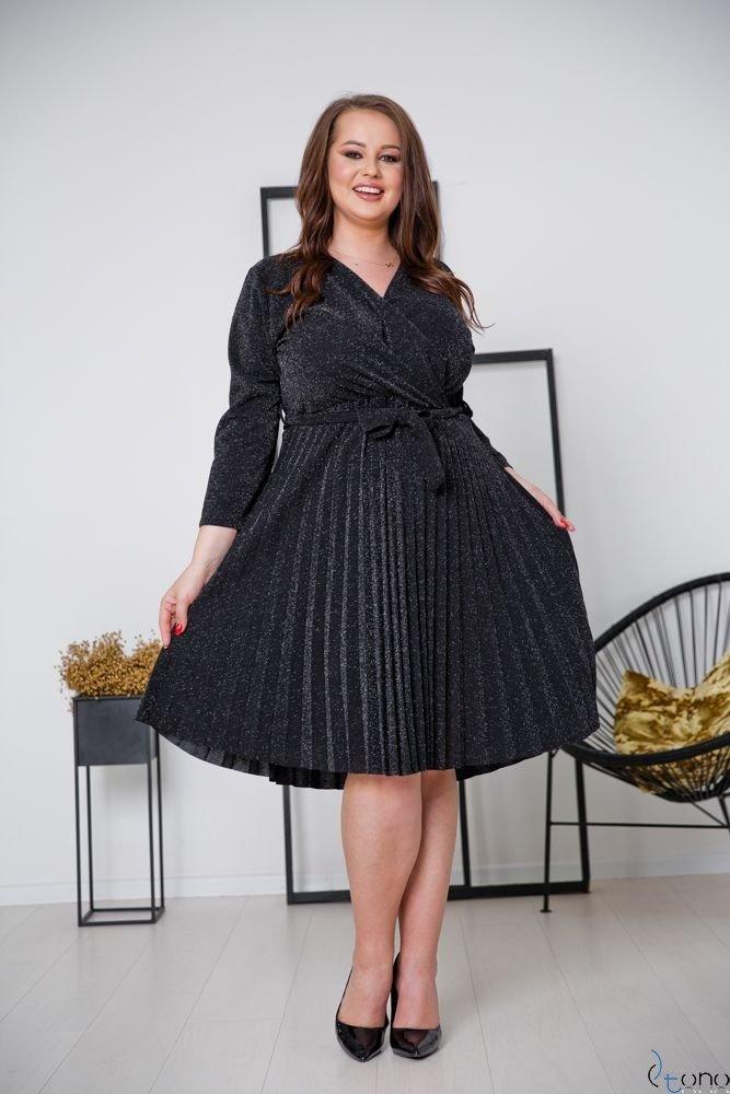 Czarna Sukienka FELICE Plus Size
