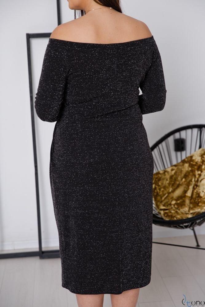 Czarna Sukienka SISIE Plus Size