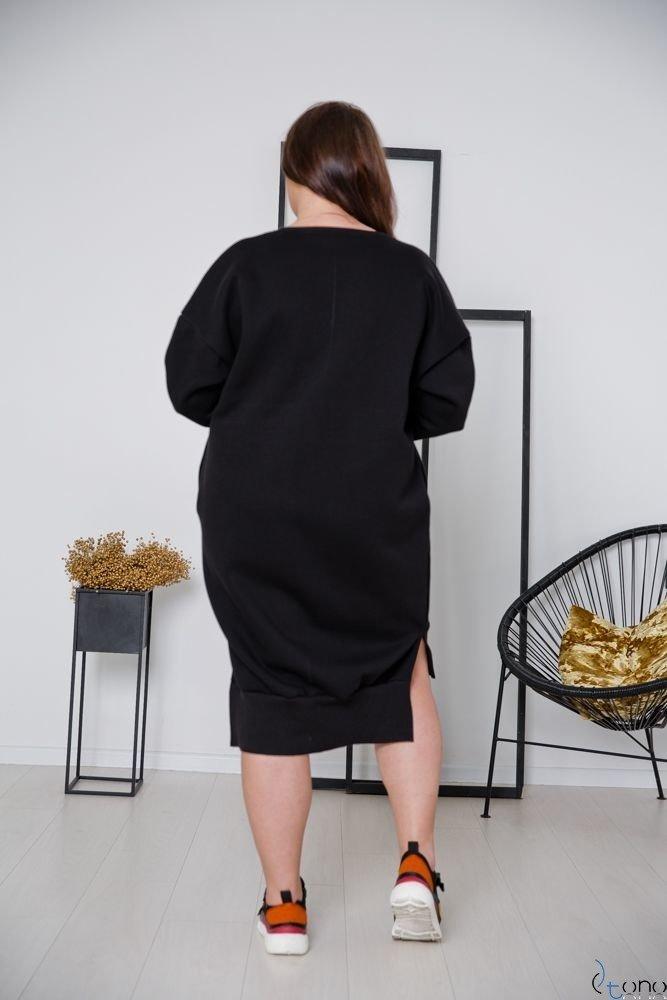 Czarna Sukienka SUSANE Plus Size