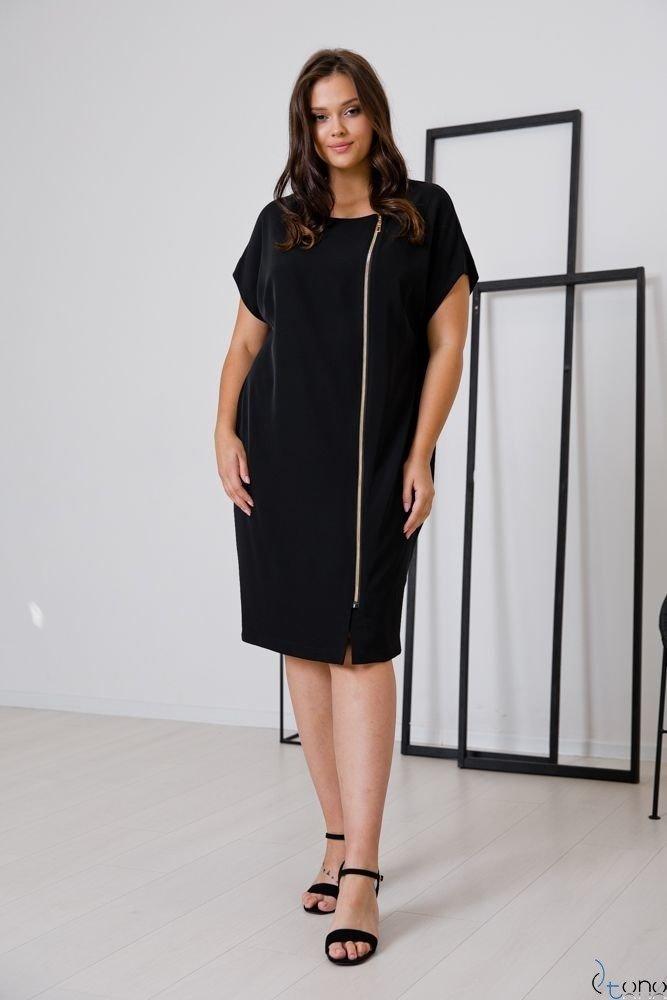 Czarna Sukienka TURRER Plus Size