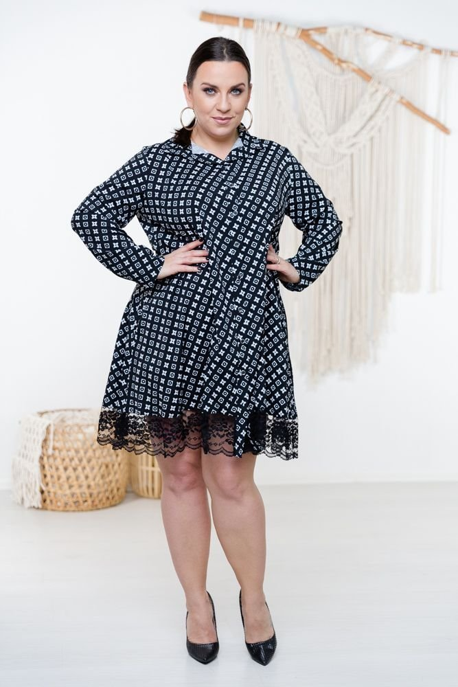 Czarno-biała Sukienka MATAHARI