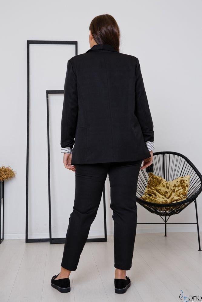 Czarny Garnitur MARLO Plus Size