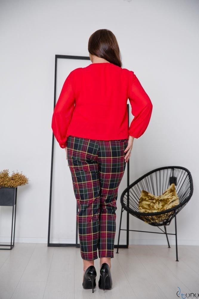 Czerwona Bluzka FONDATA Plus Size