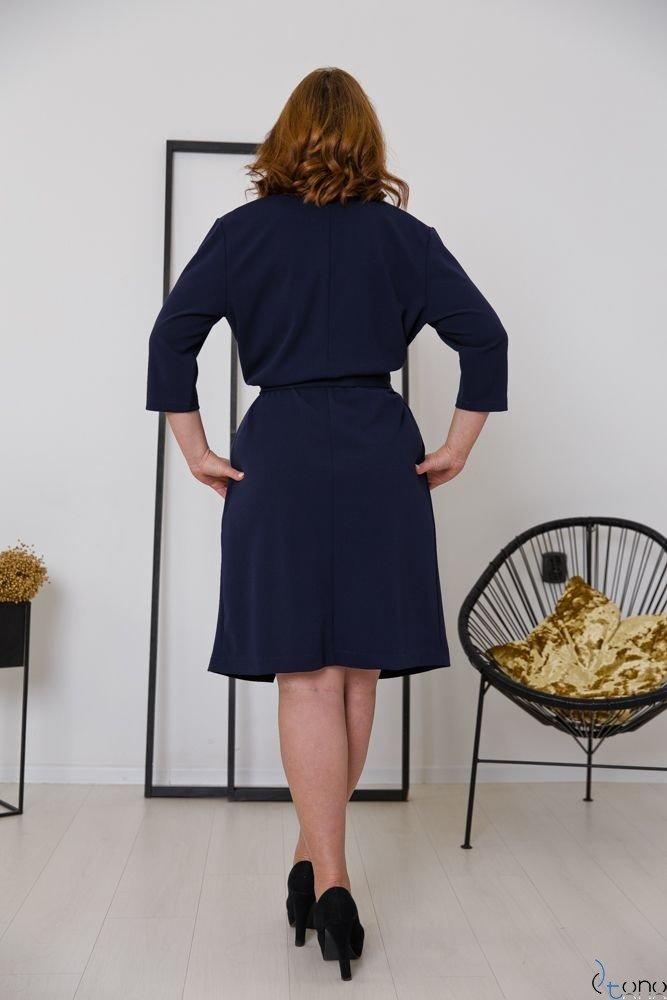 Granatowa Sukienka MAVITA Plus Size