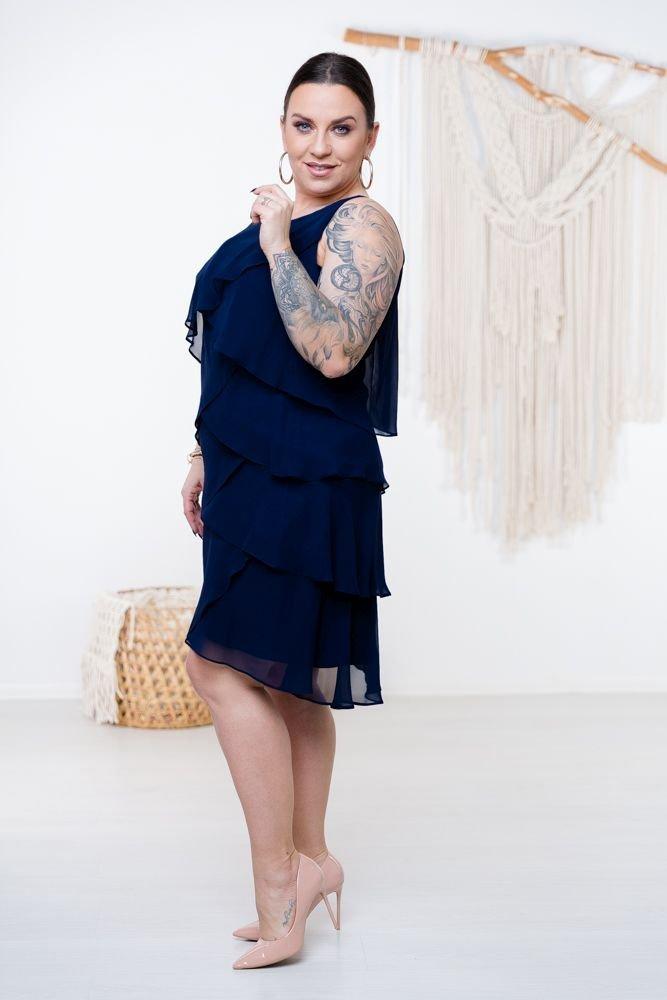 Granatowa Sukienka SUZIE Plus Size
