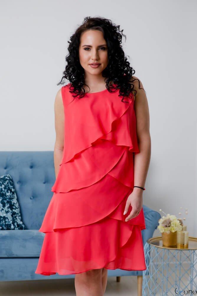 Koralowa Sukienka SUZIE Plus Size