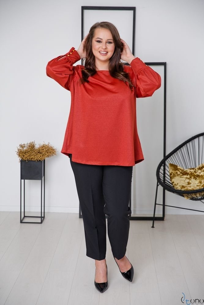 Ruda Bluzka DIMENA Plus Size