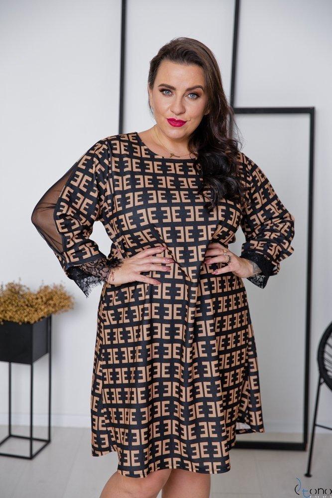 Sukienka LAPIZ Plus Size Wzór 3