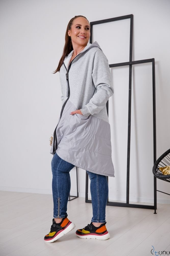 Szara Bluza VIRAL Plus Size