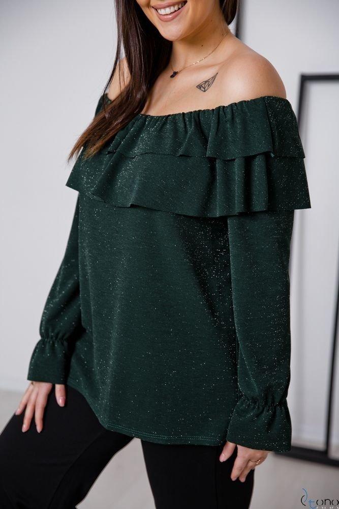 Zielona Bluzka BASTILIA Plus Size