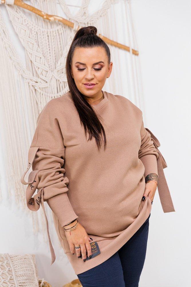 Beżowa Bluza BIGGY Plus Size