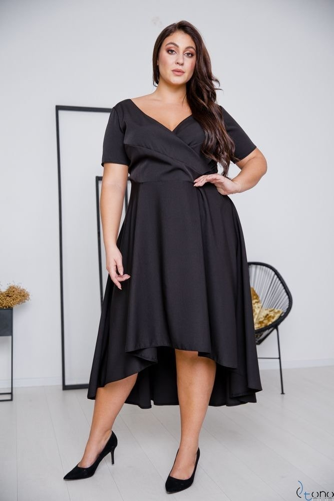Czarna Sukienka CATENA Plus Size