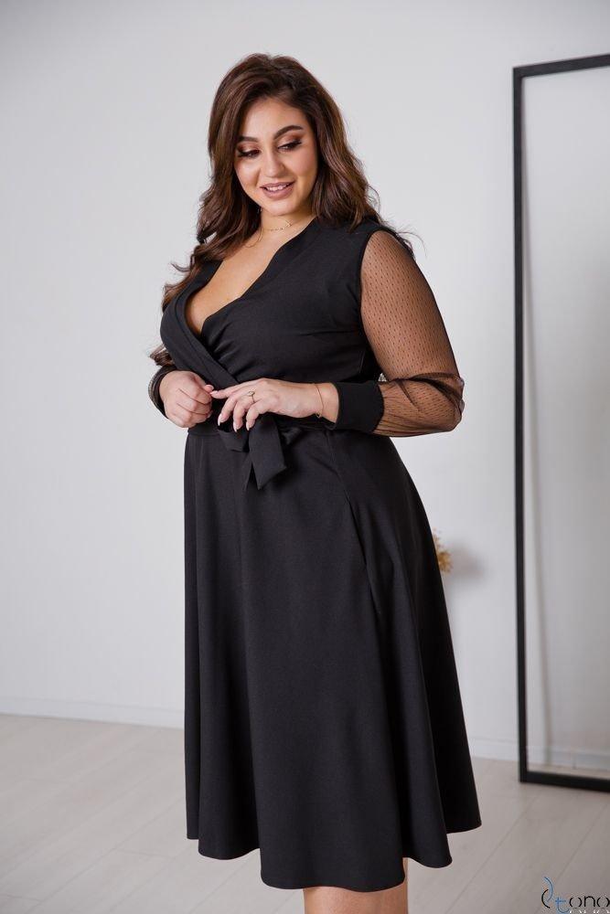 Czarna Sukienka CERTIMA Plus Size