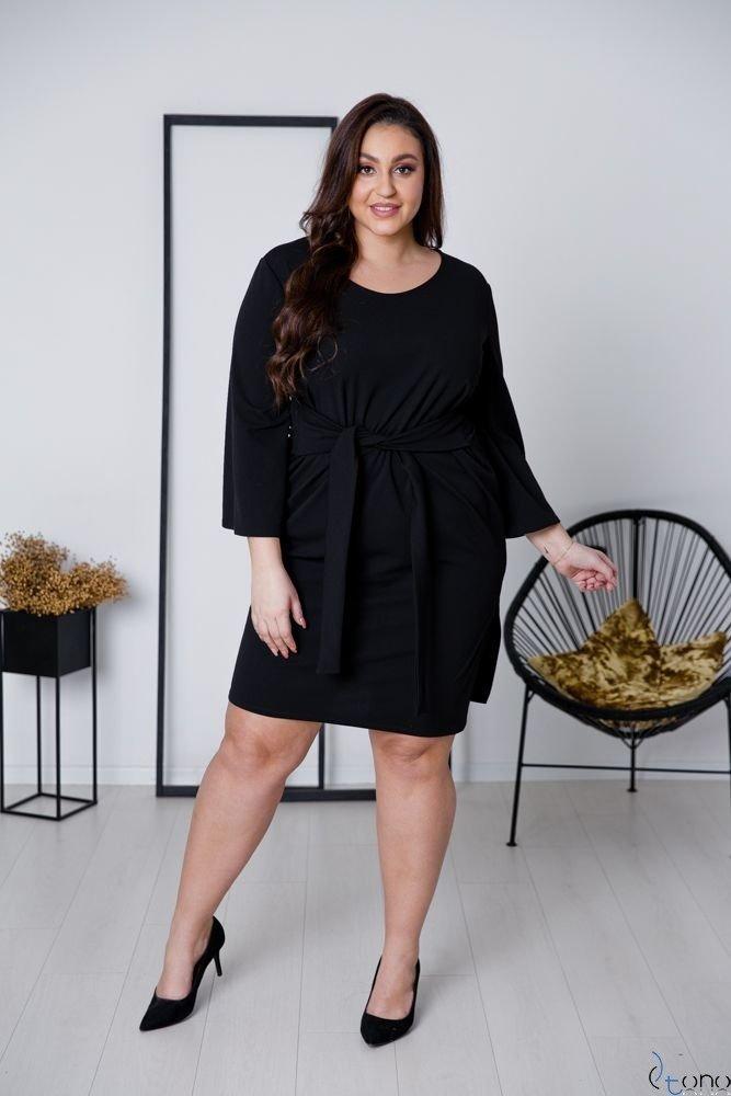 Czarna Sukienka GENNA Plus Size