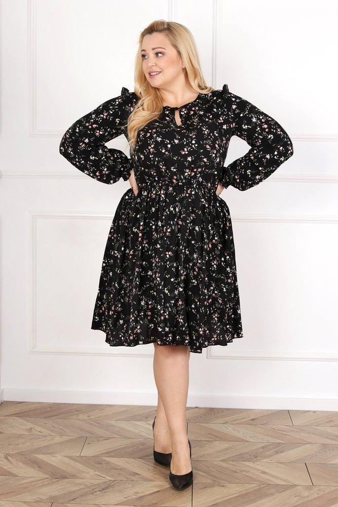 Czarna Sukienka LUKIA Plus Size wzór 1
