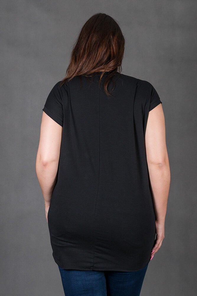 Czarna Tunika SOVA Plus Size
