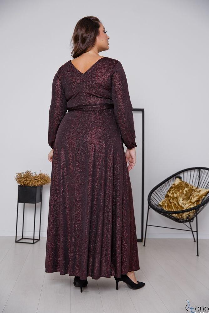 Czarno-Czerwona Sukienka SAVOY Plus Size
