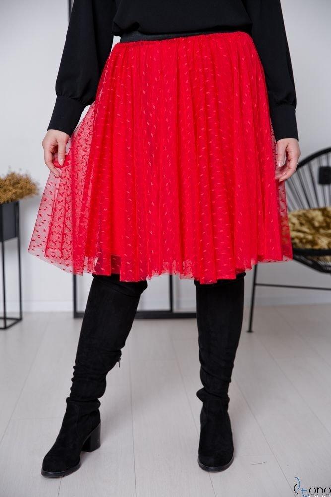 Czerwona Spódnica OVER Plus Size