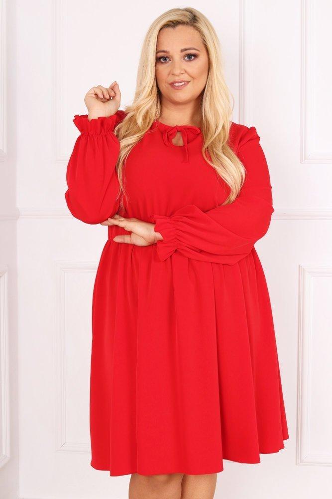 Czerwona Sukienka LUKIA Plus Size