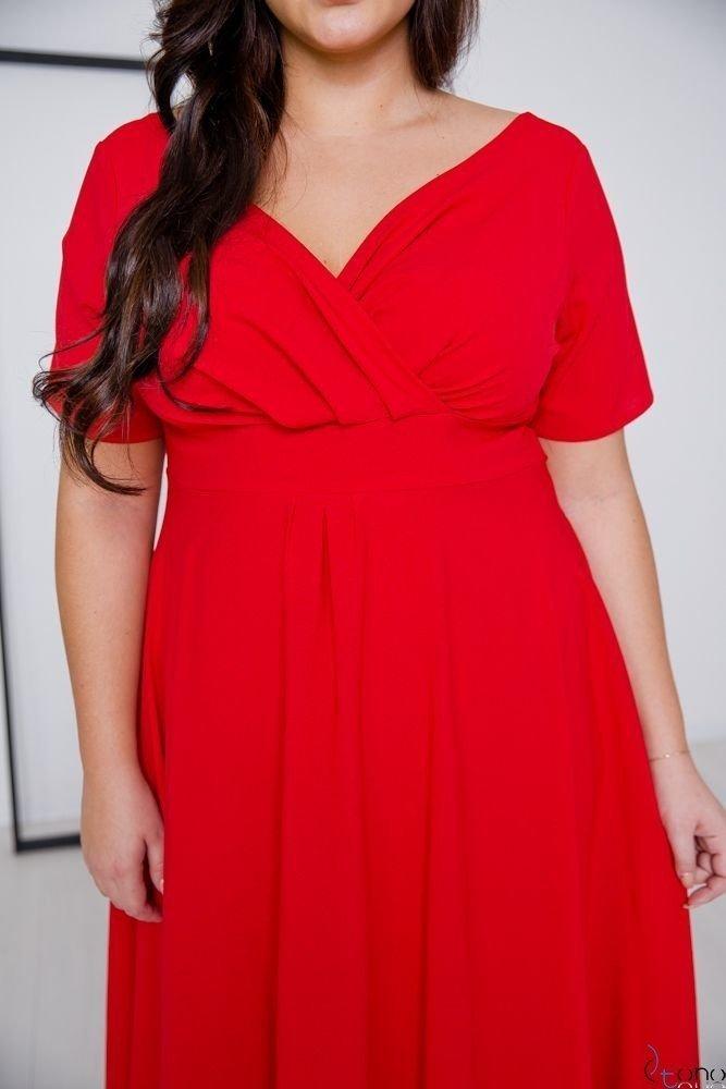 Czerwona Sukienka MIRIAM Plus Size