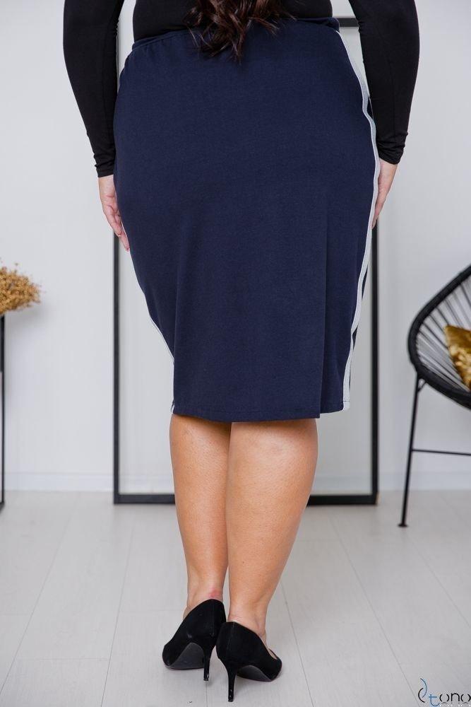Granatowa Spódnica ADELLA Plus Size