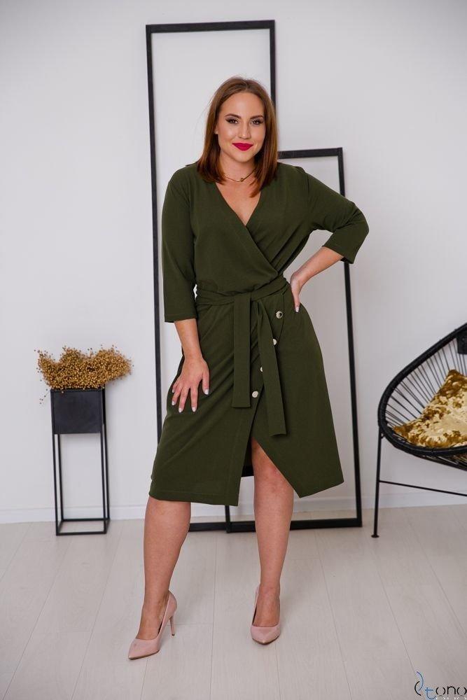 Khaki Sukienka MATICA Plus Size