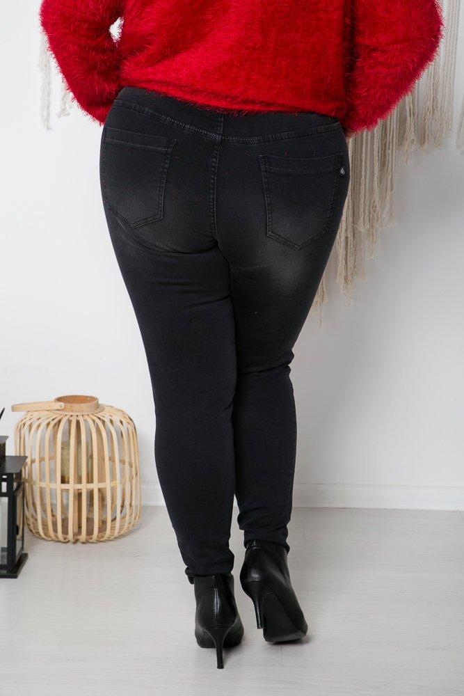Spodnie jeansowe grafitowe TORNI Plus Size
