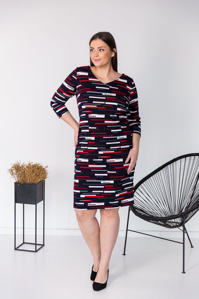 Sukienka BRECIA Plus Size Wzór 3