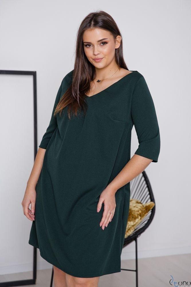 Zielona Sukienka AFETIA Plus Size